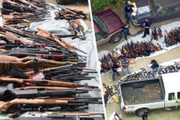1000 guns seized from LA mansion
