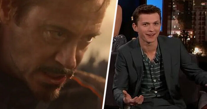 Tom Holland though Tony's Stark's funeral scene was a wedding.