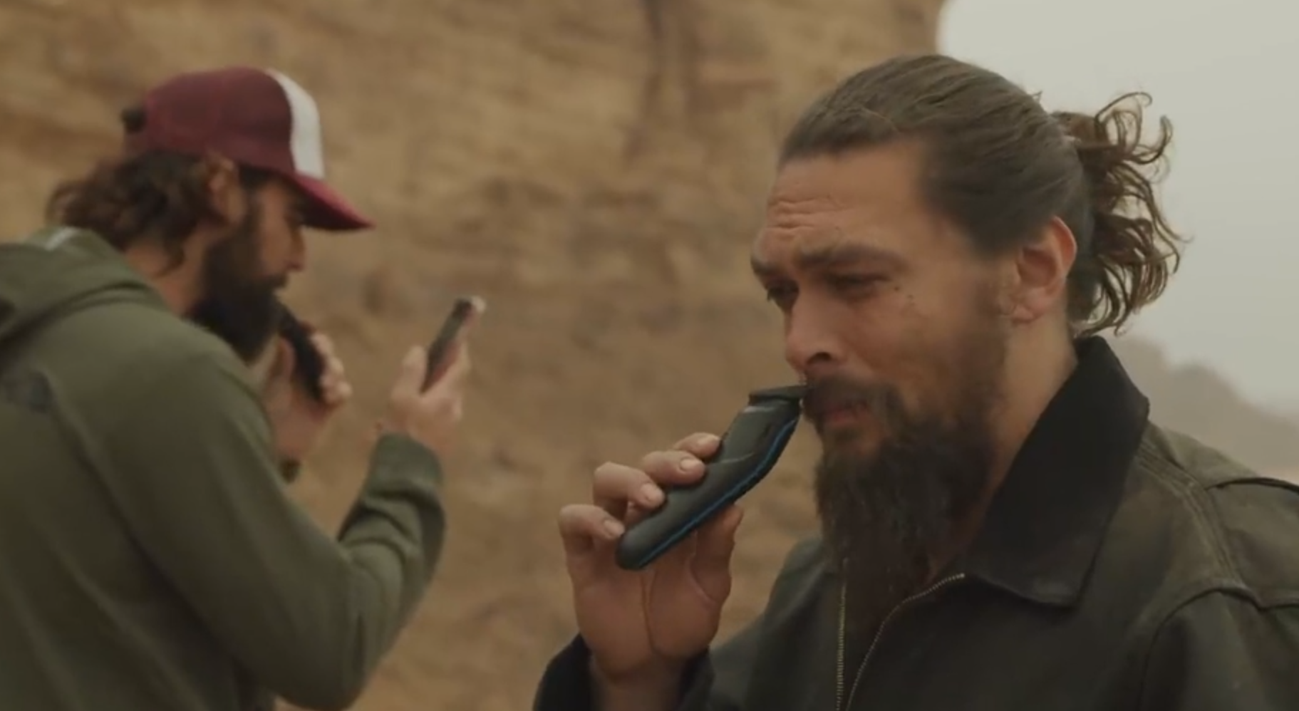 jason momoa shaving his beard