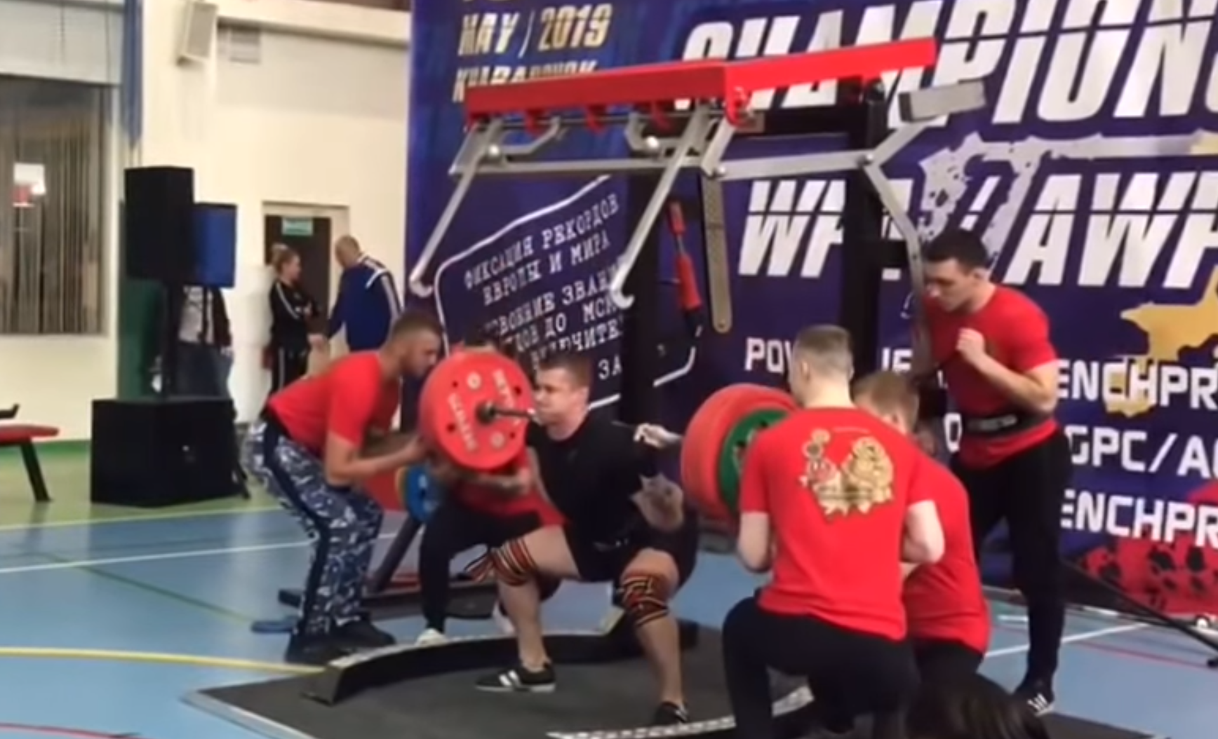 Powerlifter Breaks Leg In Three Places After Collapsing Under 250kg Weight