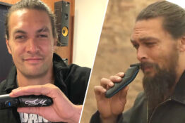 jason momoa with beard trimmer