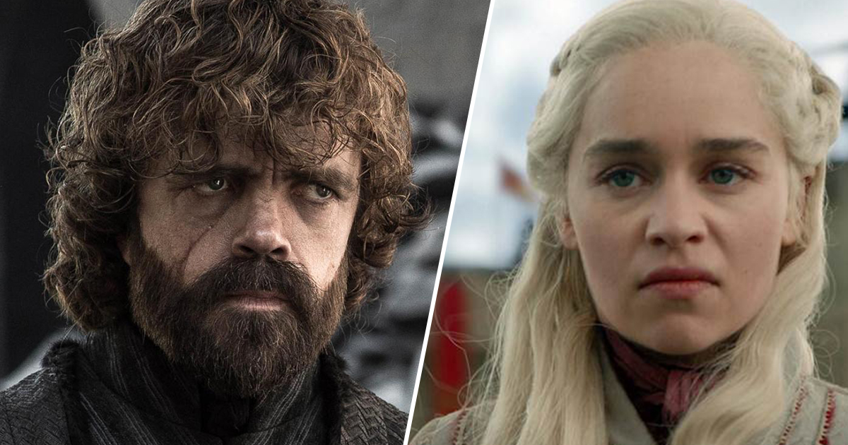 game of thrones stills with tyrion and dany