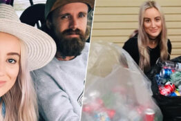 Couple recycle 10c cans for wedding day