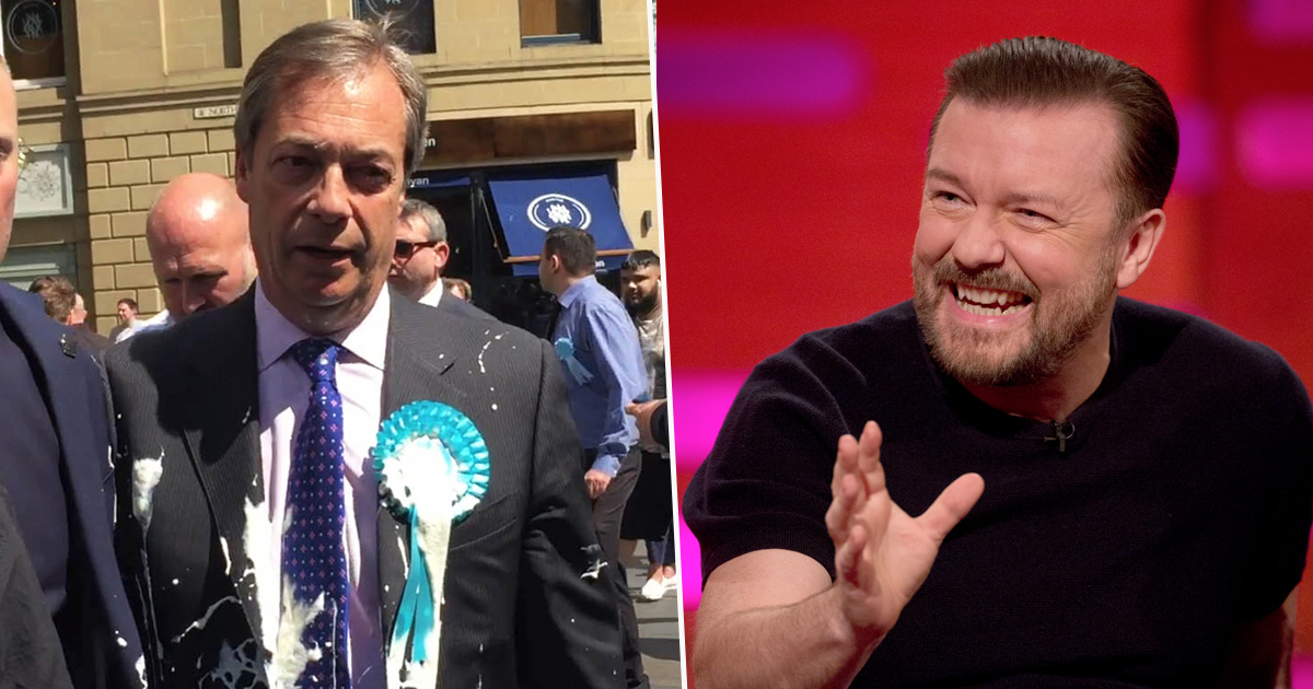 Ricky Gervais Says Anyone Milkshaking Pro-Brexit Politicians 'Deserves A Smack'
