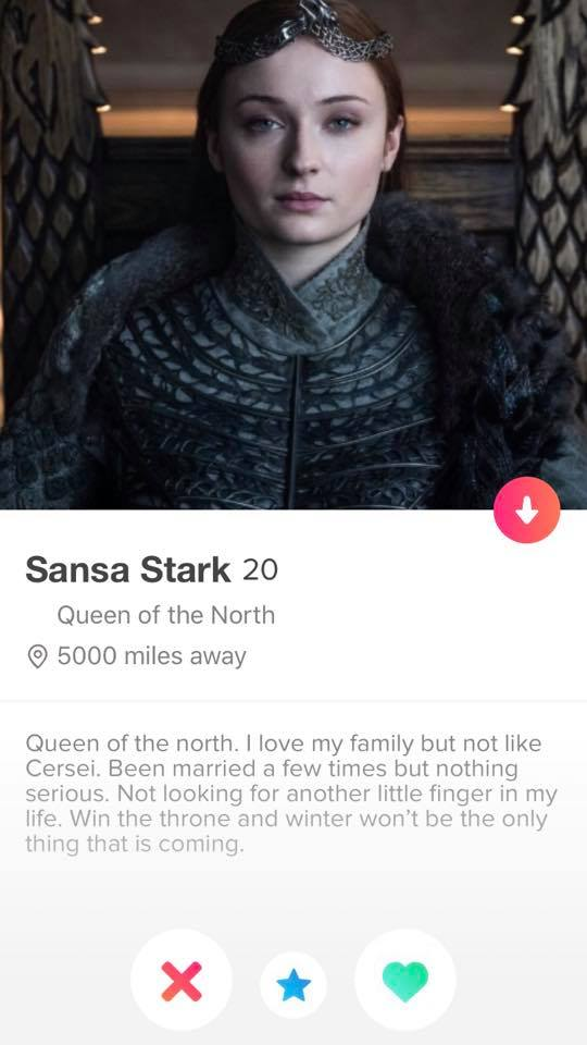 Game Of Thrones Tinder Profiles Are Absolutely Hilarious