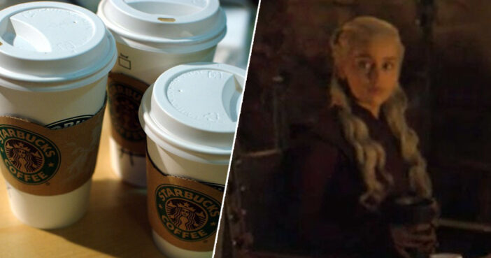 Starbucks cup spotted in latest Game of Thrones episode.