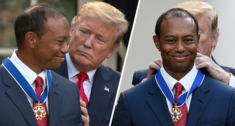 Tiger Woods receives medal of freedom
