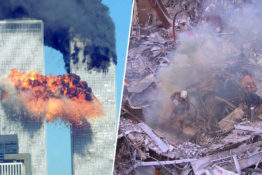 twin towers/rubble