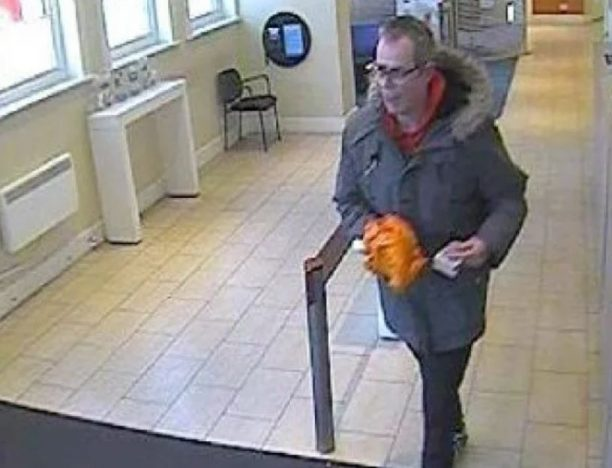 Man imprisoned after robbing bank with banana.