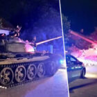 Drunk Man Invades Small Polish Town In Soviet Tank