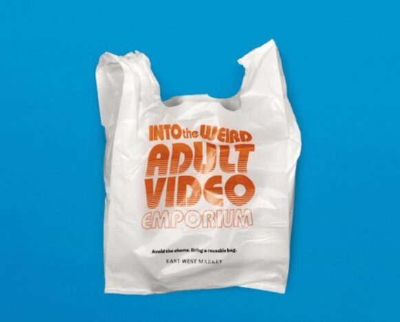 Supermarket gives out embarrassing plastic bags.