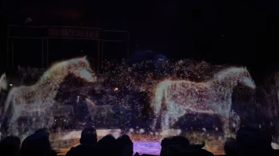 Horses holographic circus