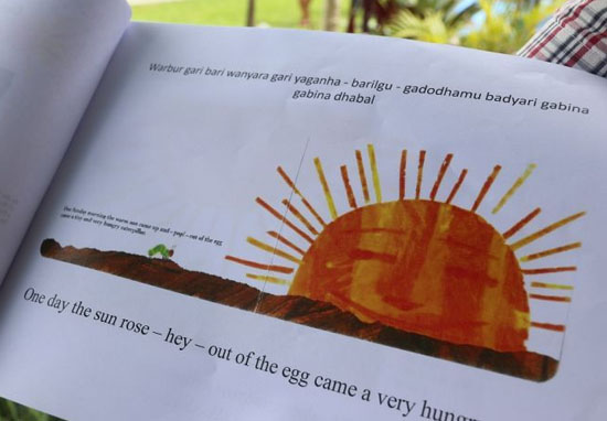 Hungry Caterpillar revives extinct language