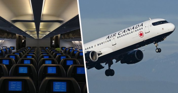 Woman falls asleep on Air Canada flight and gets locked in.