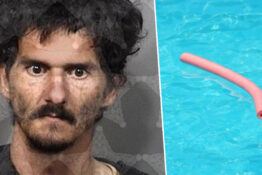 Man steals pool floats