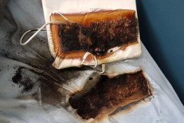 Boy's tablet burns through bed