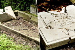 soldier's graves vandalised d-day anniversary