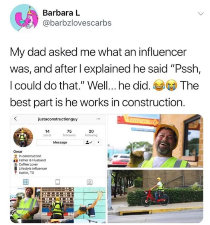 Dad Who Became Influencer To Prove Point To Daughter Actually A Viral Marketing Campaign