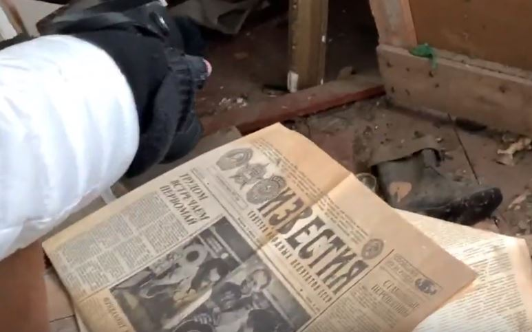 Newspaper Recent Chernobyl Photos Show The Site Frozen In Time UNILAD Emerson Maud