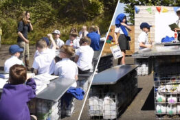 Students create eco-classroom out of recycled plastic