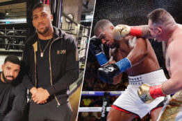 anthony joshua and drake/fight with andy ruiz