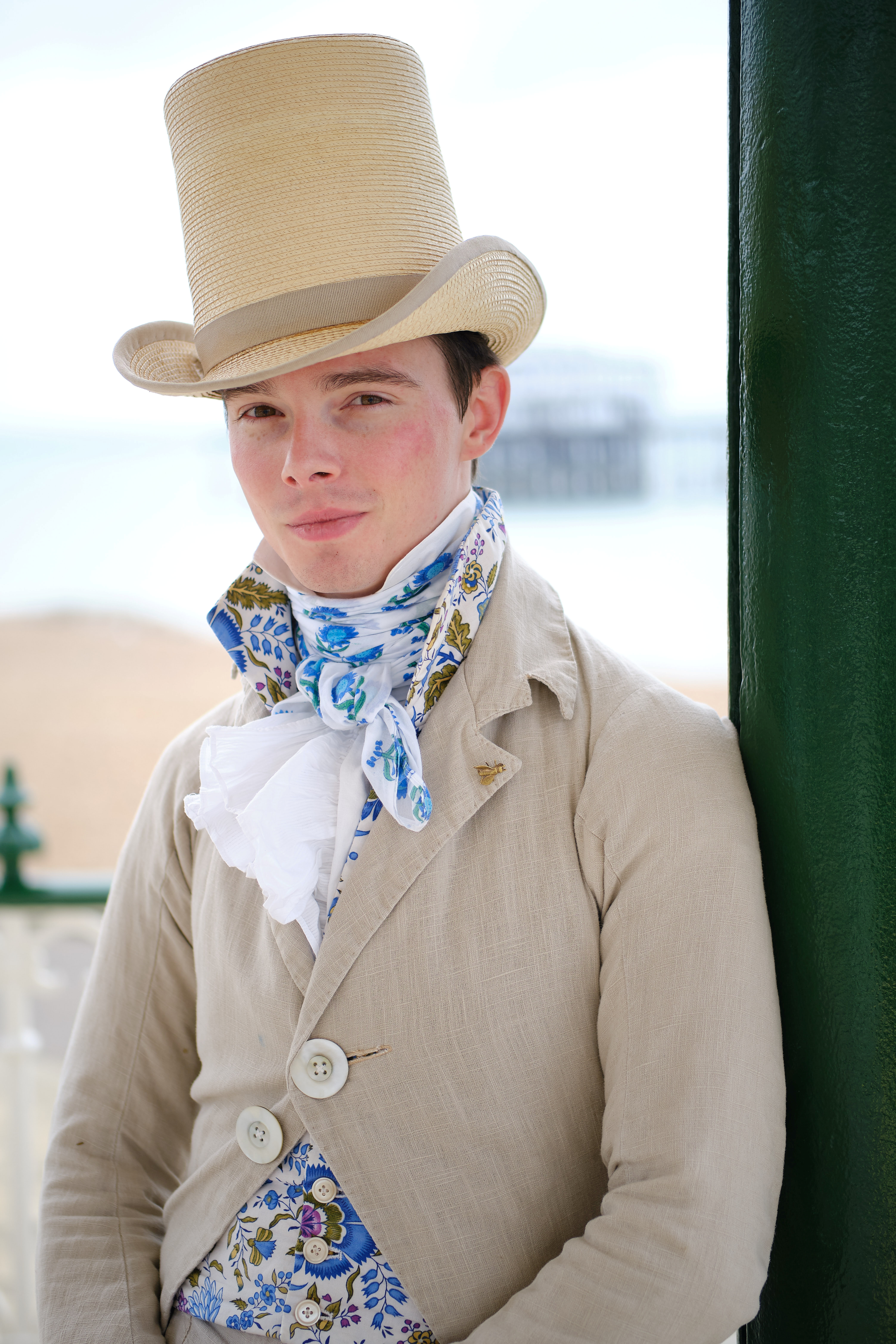 Man only dresses in clothes from 1820s