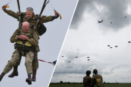 Paratroopers In Their 90s Parachute Into Normandy For 75th Anniversary Of D-Day Landings