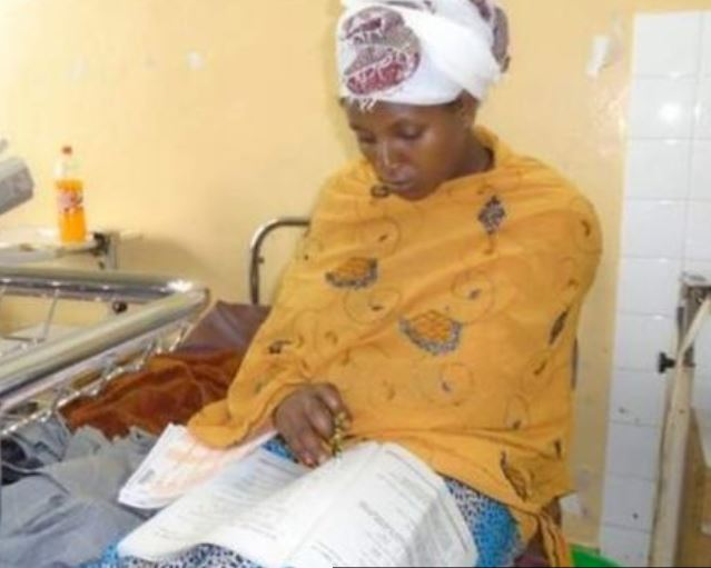New mum sits exams after giving birth