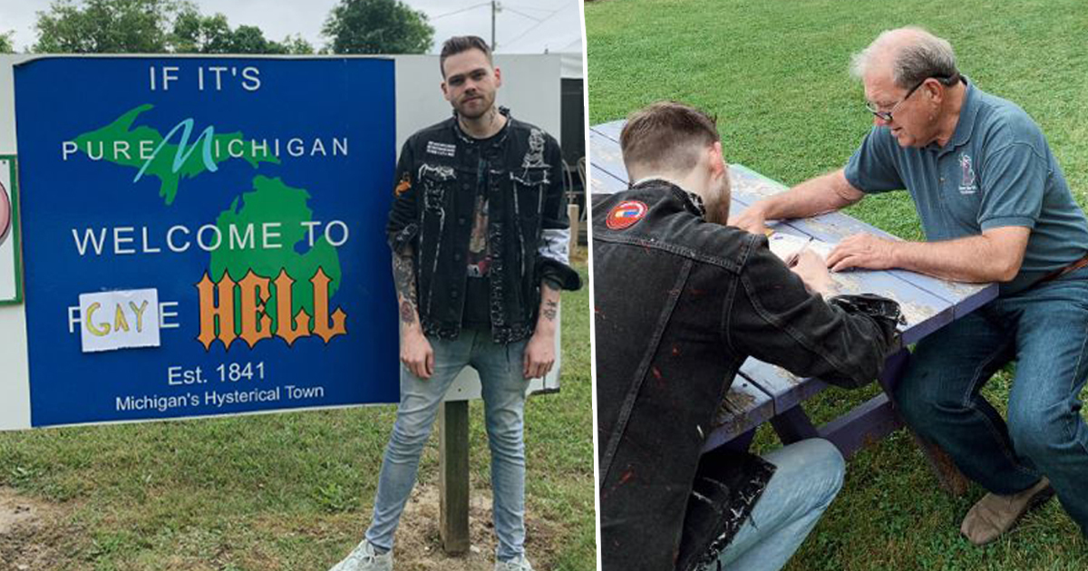 elijah daniel next to sign for gay hell