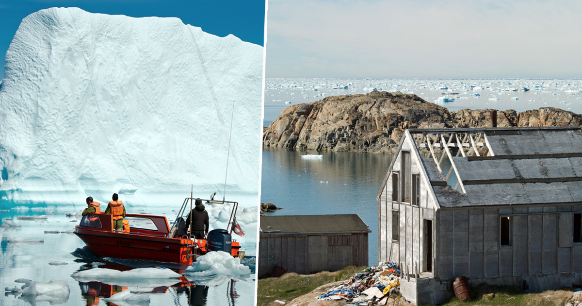 Iceberg greenland ice melts 2 billion tonnes 2 gigatonnes