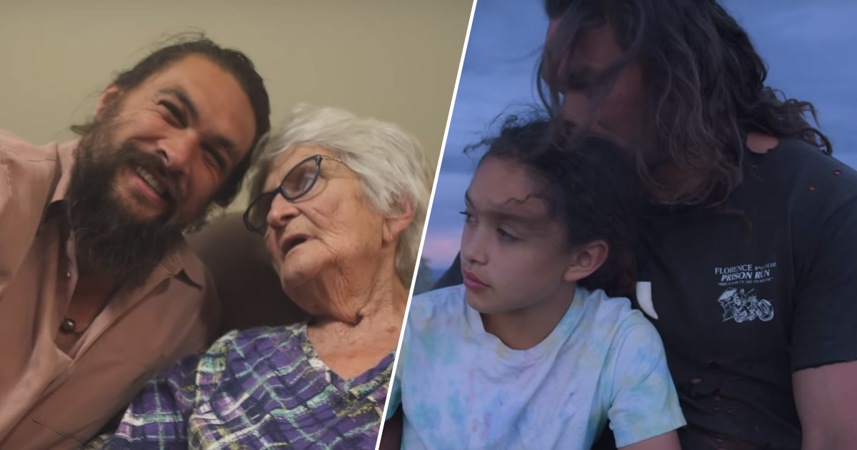 Jason Momoa makes film for Father's Day.