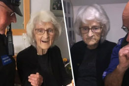 93-year-old josie birds getting arrested