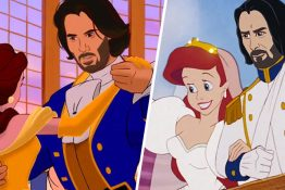 Artist Reimagines Keanu Reeves As All The Disney Princes