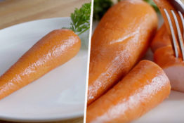 carrots made of meat