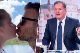 david beckham kissing daughter on lips/piers morgan