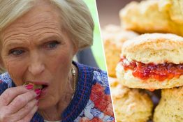mary berry eating a scone