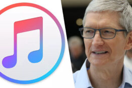 itunes logo/tim cook