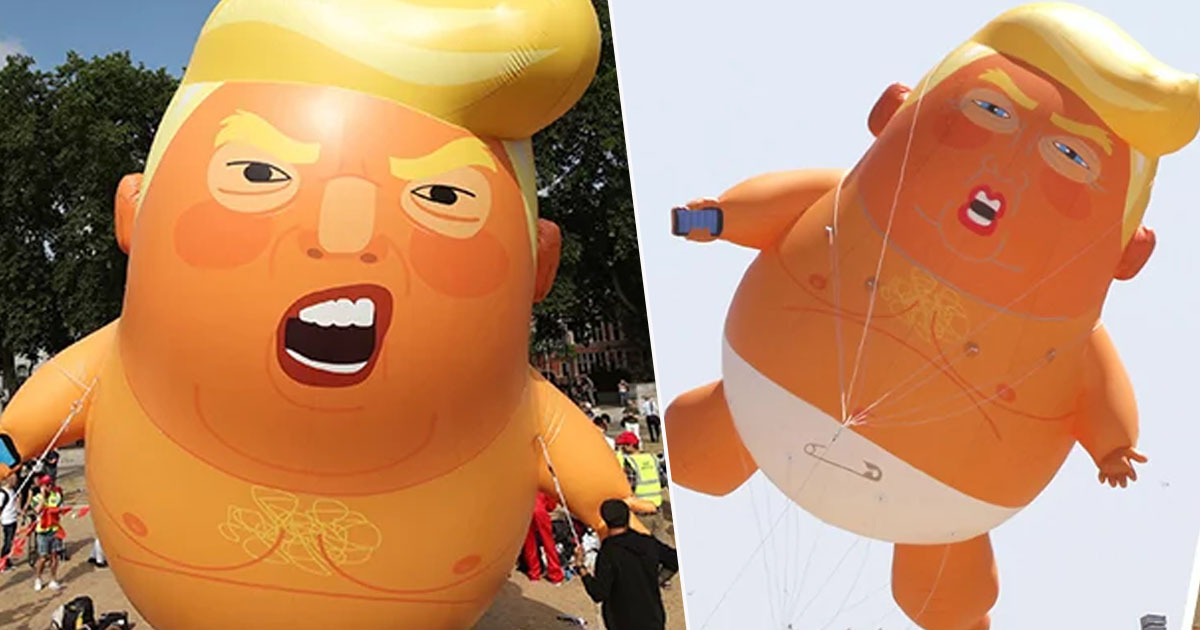 Trump Baby Balloon Set To Fly Again During His Visit Next