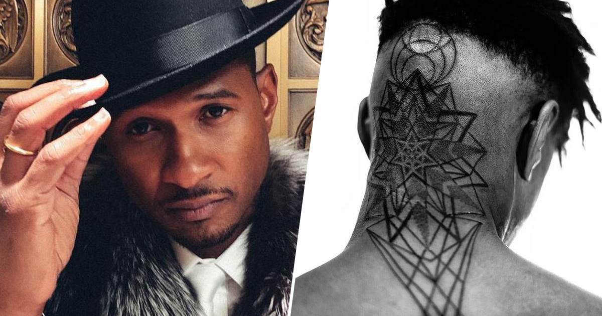 Usher new head tattoo
