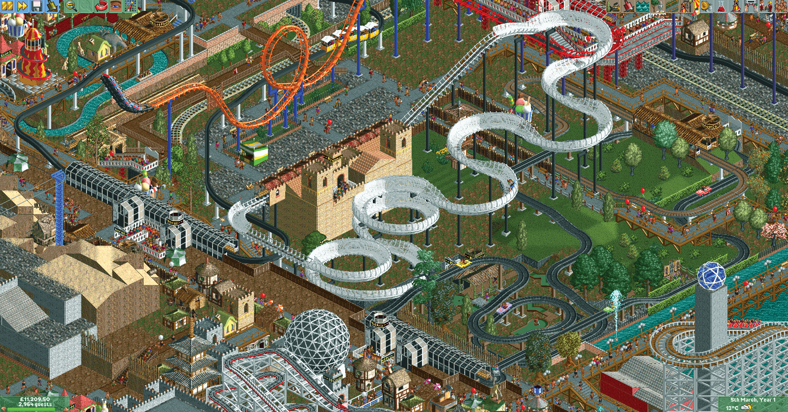 This Horrorshow Of A Rollercoaster Tycoon Ride Takes 45 Years To Finish