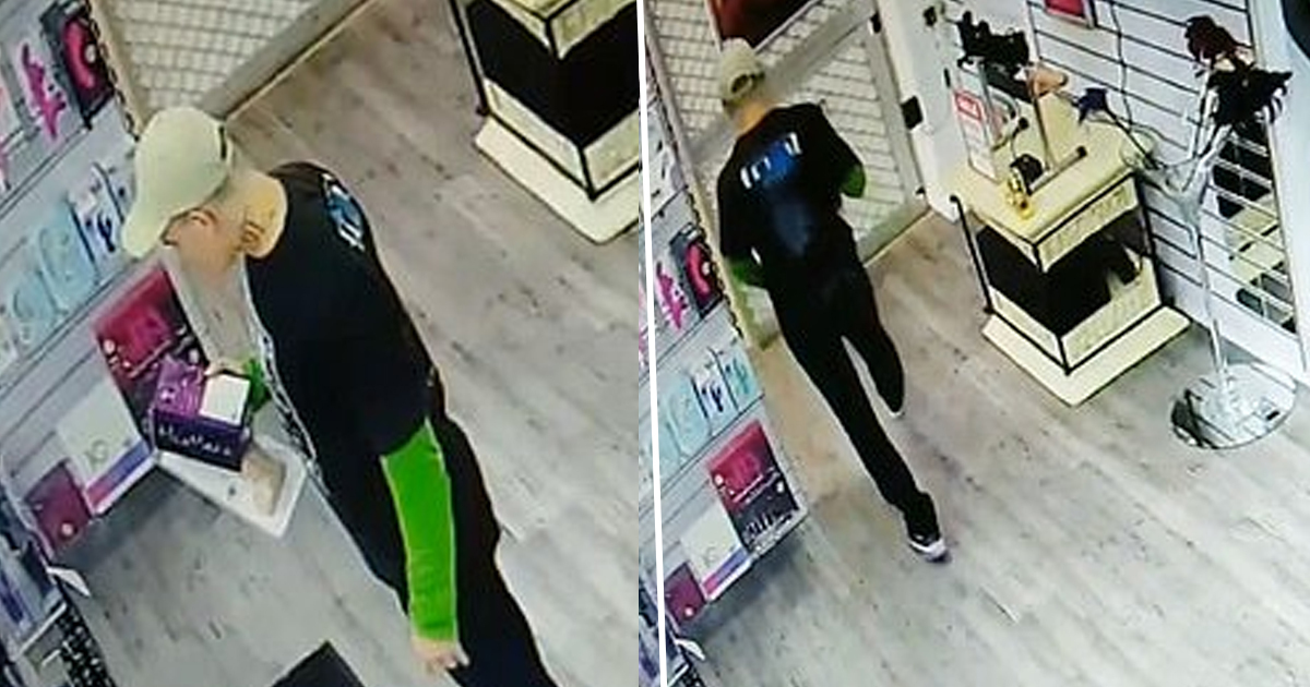 Dildo thief Caught On Camera Stealing 7.5 Inch Sex Toy