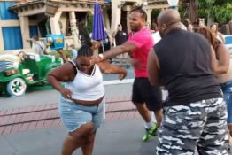 Disneyland fight