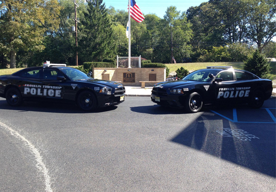 Two Franklin police cars