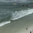 Good Samaritans Form Human Chain To Rescue Couple Struggling At Sea