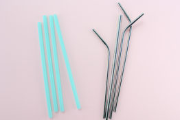 Metal straws and plastic straws