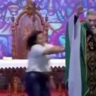 Woman Pushes Priest Off Stage For Saying 'Fat Women Don't Go To Heaven'