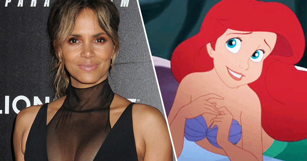 halle berry/ariel from the little mermaid