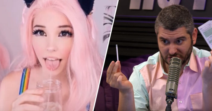 YouTubers Spend 20 Whole Minutes Analysing Belle Delphine's Spit