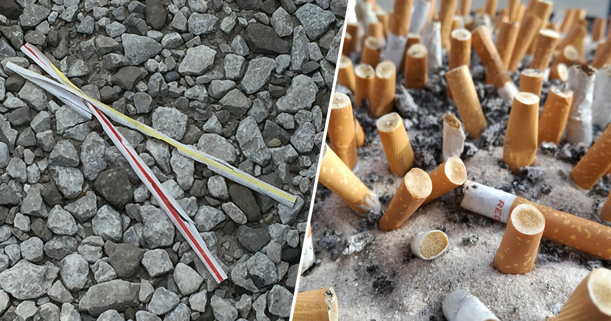 plastic straws/cigarette butts