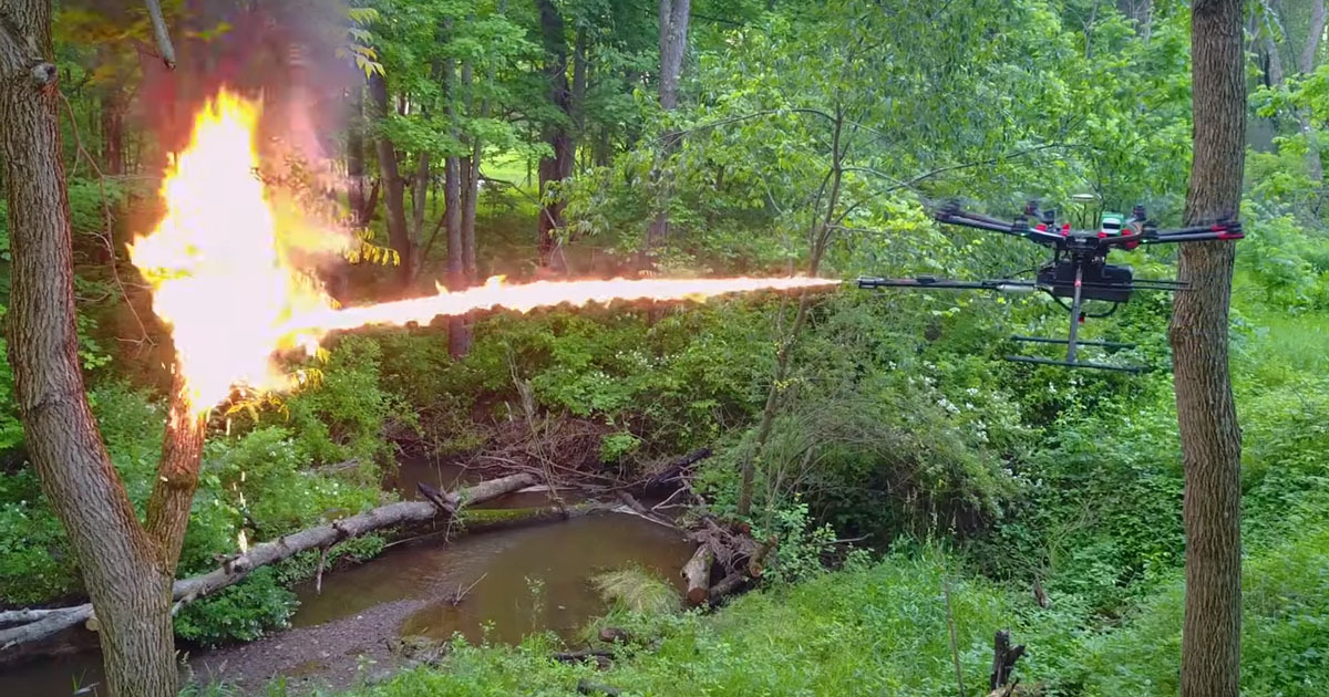Drones With Flamethrowers Are Available To Buy Now